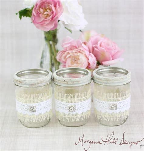 Decorating Mason Jars with Burlap   Mason Jar Wedding