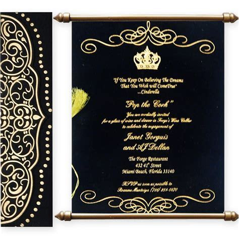 Variant of Scroll Wedding Cards with Matte Finish Paper