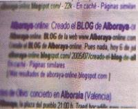 Alboraya-online en buscador