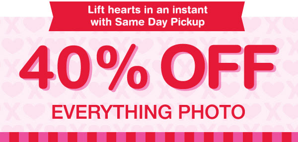 40% OFF Everything Photo