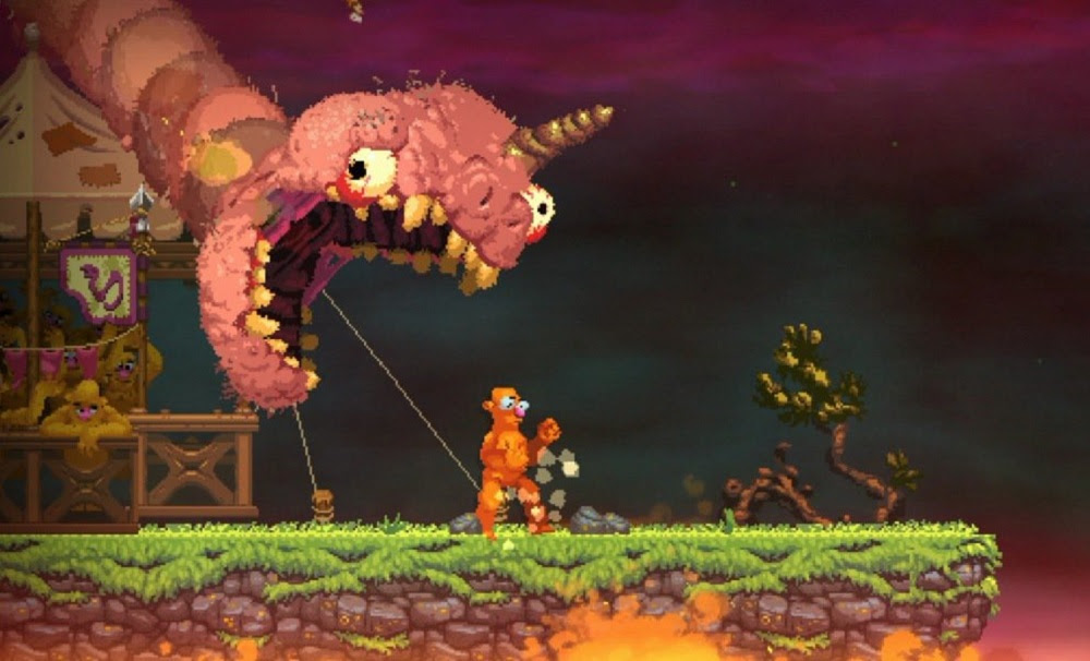Entertaining evisceration in Nidhogg 2 trailer screenshot