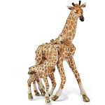 Bejeweled Mother & Baby Giraffe Trinket Box with Charm Pendant - BJ2124