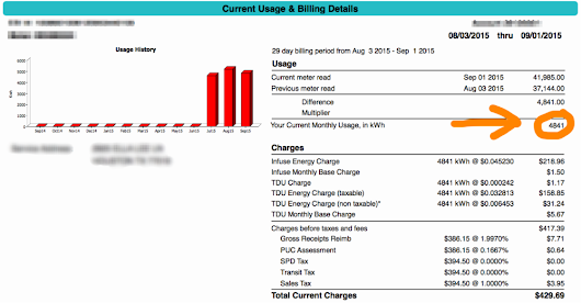 Energy Bill Before and After 20 SEER A/C System Installation