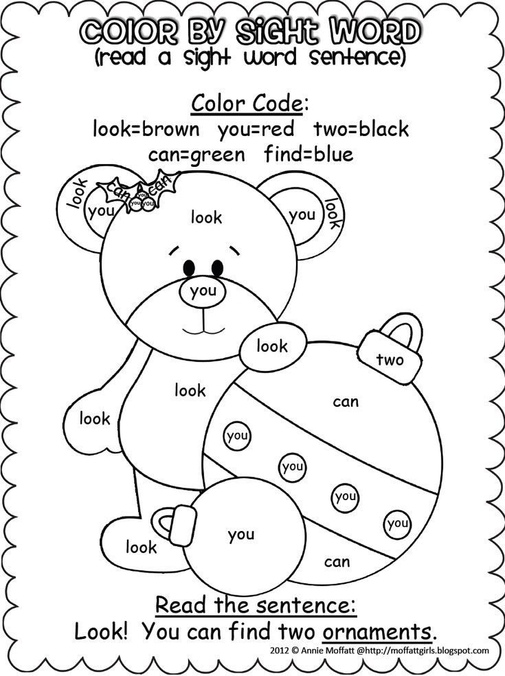 "Search Results for ""Color By Sight Word Printables ..."