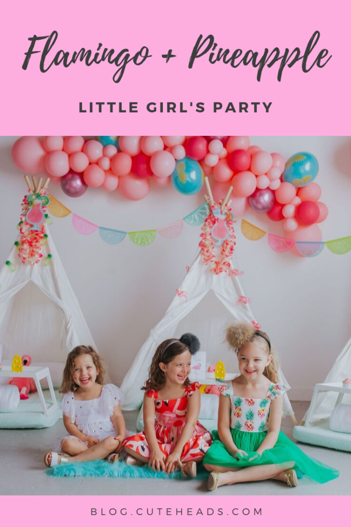 Little Girl's Pineapple Flamingo Party -- blog.cuteheads.com
