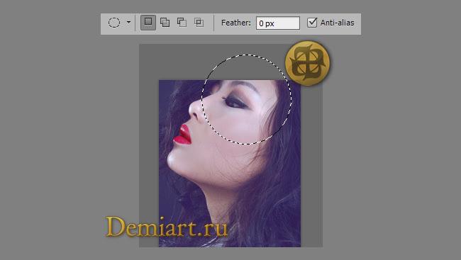 Портрет в профиль. Фотообработка