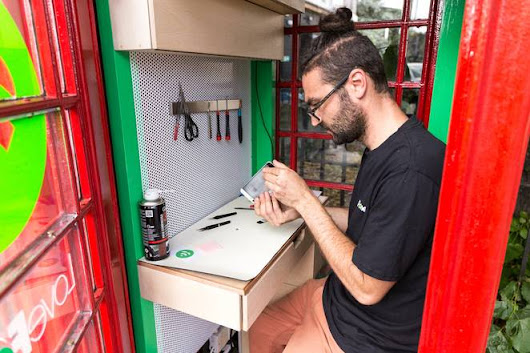 Phone boxes being converted into smartphone repair shops