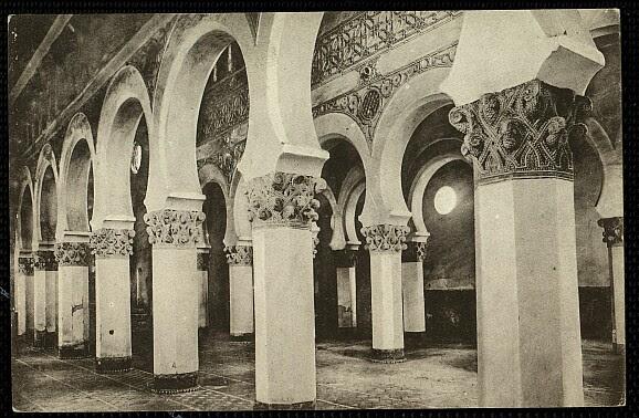 Sinagoga de Santa María la Blanca a comienzos del siglo XX. Foto Grafos