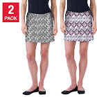 Tranquility by Colorado Clothing Ladies' Skort, 2-Pack, Pink, Small