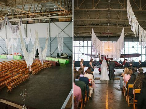 Whimsical Wedding in an Airplane Hangar: Alex   Keith
