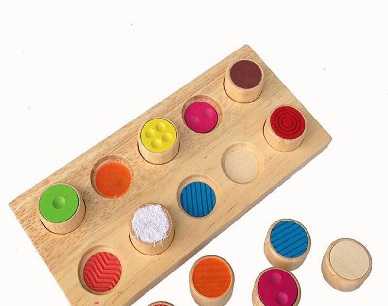 BEST QUALITY Wooden Montessori Materials Texture Matching ...