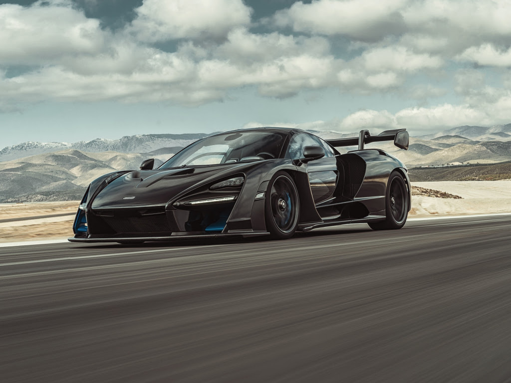 Desktop wallpaper mclaren senna, black, sports car, hd image, picture, background, 724c31