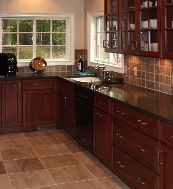 Kitchen Backsplash Cherry Cabinets: Kitchen Backsplash Ideas For Cherry Cabinets