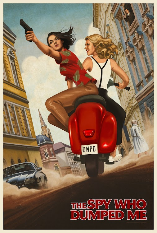 New Poster for Spy-Comedy 'The Spy Who Dumped Me' - Starring Mila Kunis & Kate McKinnon