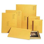 """Alliance Rubber Naturewise Cushioned Mailer - Bubble - #0 [6"""" X 10""""] - Peel & Seal - Paper - 25/carton - Kraft (ALL10802)"""