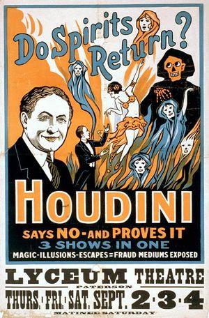 Harry Houdini (1874-1926) performance poster. ...