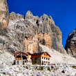 Hiking Trekking Dolomites Alps Italy via ferrata at Lake Garda Trentino