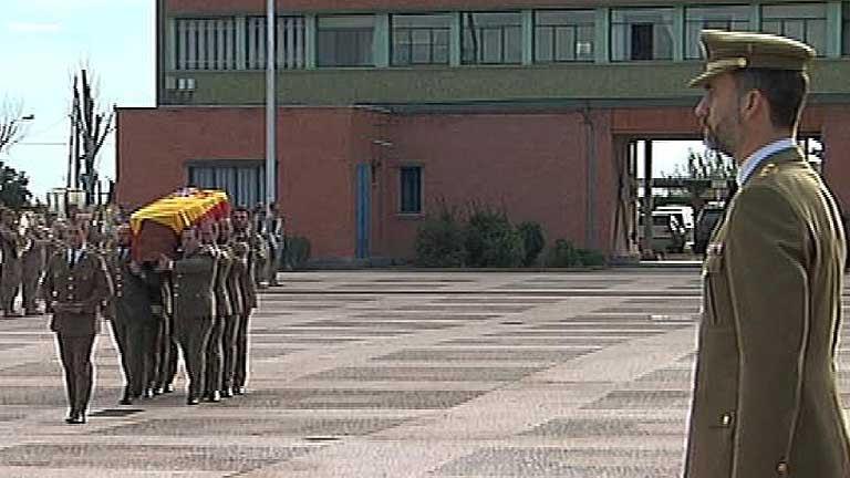 Funeral por el militar muerto en Afganistán
