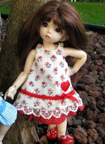 Peanut's new dress