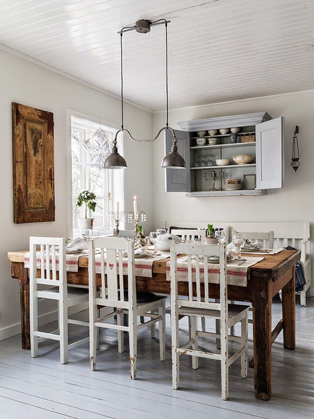 Favorite Industrial Farmhouse light over kitchen table | Friday Favorites at www.andersonandgrant.com