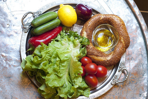 Vegetarian Iftar: Ingredients for Fattoush