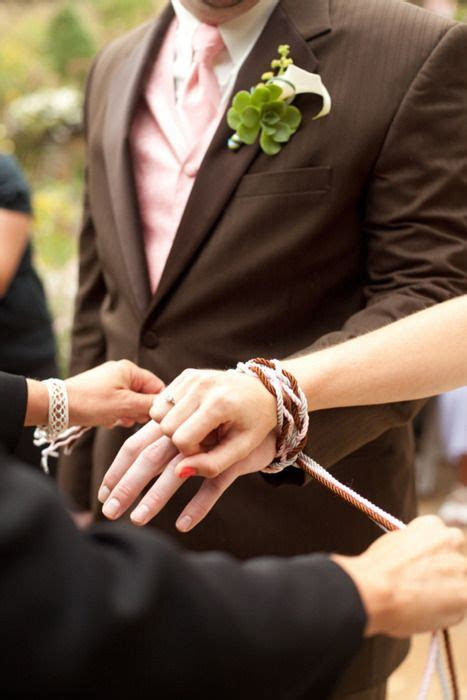 """handfasting literally, """"tying the knot"""" an ancient"""