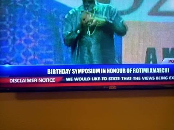Amaechi At 52: Channels TV Issues Disclaimer During Broadcast Of Birthday Speech