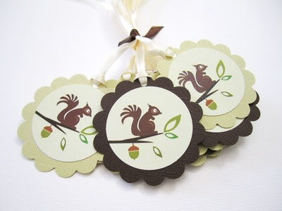 Cute Squirrel Favor Tags