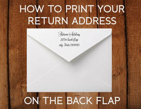 How to print a return address on the back flap of your