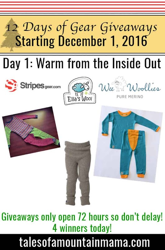 12 Days of Gear Giveaways Day 1: Warm from the Inside Out! - Tales of a Mountain Mama