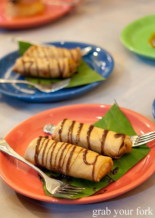 turon banana and jackfruit banana fritter dessert at lamesa phillipine cuisine haymarket chinatown