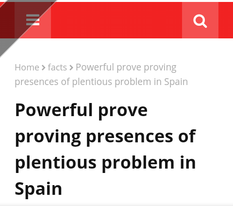 Powerful prove proving presences of plentious problem in Spain