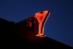 club 115 neon martini