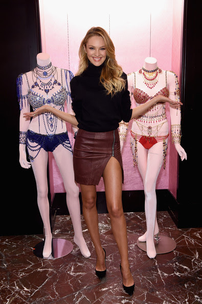 Candice Swanepoel Shares Victoria's Secret Holiday Gift Picks on November 4, 2014 in New York City.