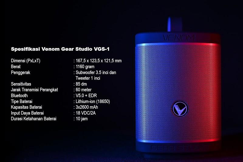 Resmi Dirilis, Ini Kemampuan Venom Gear Studio VGS-1 Speaker Portable oleh - audiq7.xyz
