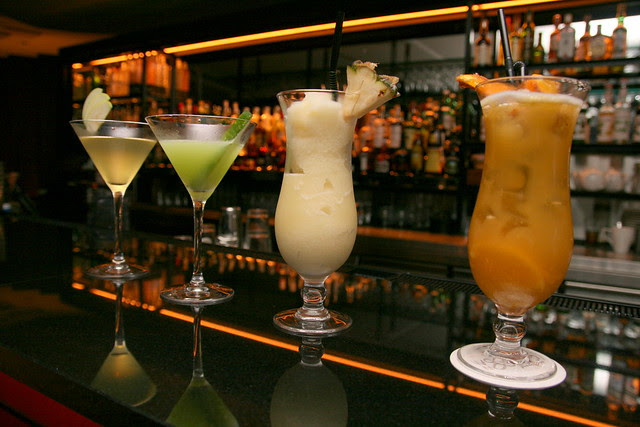 Experienced mixologists are on hand to concoct all sorts of drinks