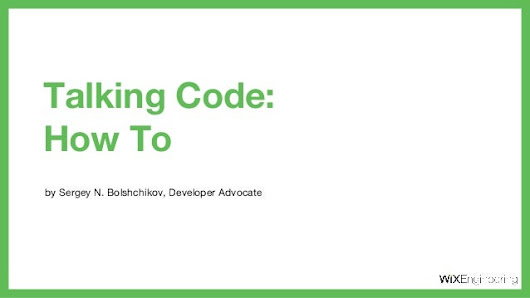 Talking code: How To