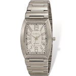 Chisel Stainless Steel White Tonneau Dial Mens Watch - TPW122