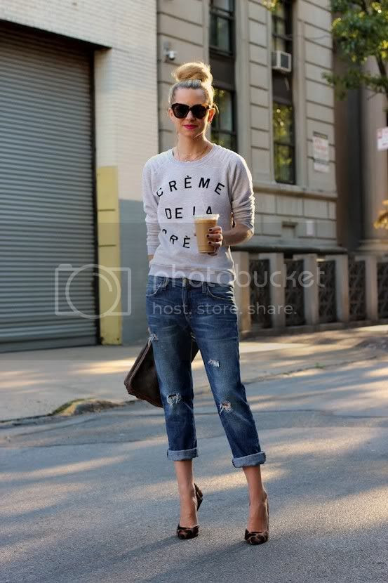 Boyfriend Jeans and Sweater