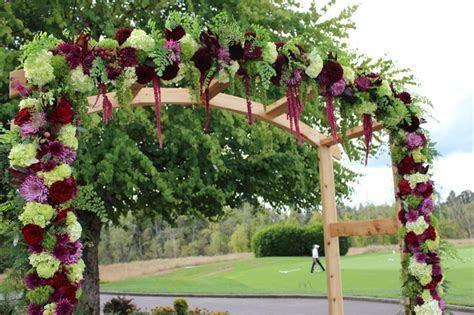 arbor wedding arch flowers aisle flowers decor portland
