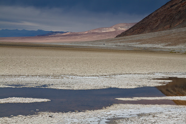 reflections, Badwater, Death Valley National Park