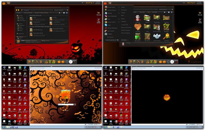 haloween skin pack windows  Top 10 Windows 7 Themes, Visual Styles, Stylish Transformation Skin Packs for Win7