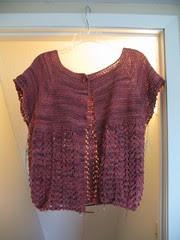 October Lady Sweater in progress