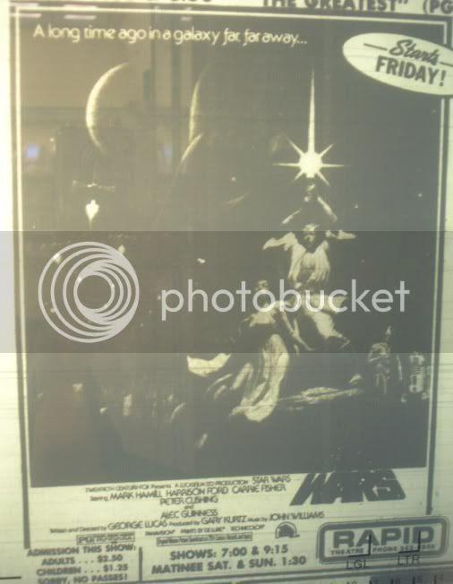 First Star Wars movie ad ran in Rapid City June 30, 1977