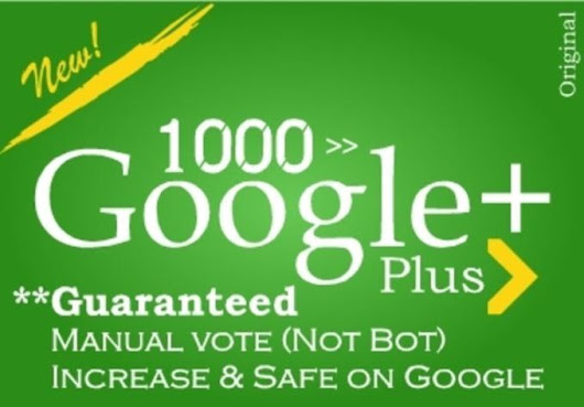 I will provide 1000 Google plus likes to any webpage