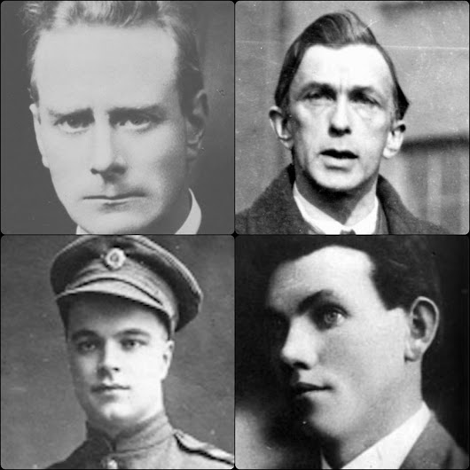 #OTD in 1922 – Irish Patriots, Liam Mellows, Rory O'Connor, Joseph McKelvey and Richard Barrett – One Each From the Four Provinces – Are Executed by Free State Forces.