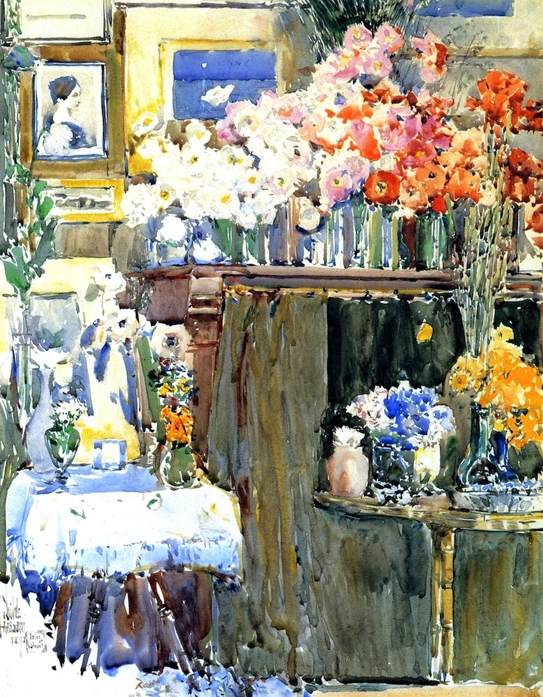 The Altar and the Shrine (also known as Celia Thaxter's Sitting Room, Isles of Shoals) Frederick Childe Hassam - 1892