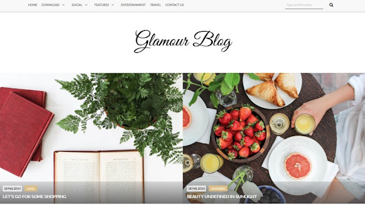 Glamour Blogger Template • Blogspot Templates 2016