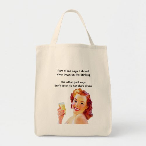 Retro Housewife Funny Tote Bag