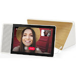 """Lenovo Smart Display with Google Assistant - White/Bamboo - 10"""""""